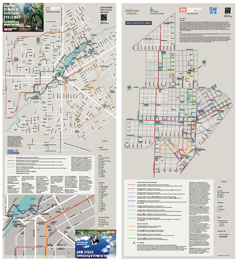Printed Cycle Route Map