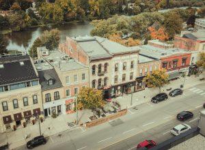 Downtown Stratford streetscape
