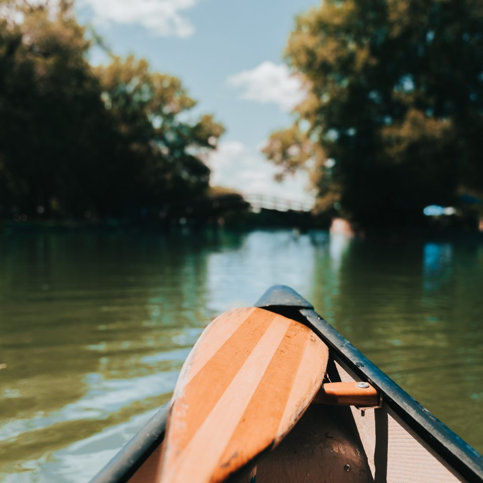 Canoeing down the Avon River